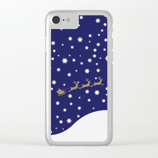 Christmas Santa Claus Clear iPhone Case