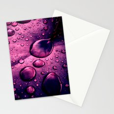 water drops XIIX Stationery Cards