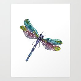Whimsical Dragonfly Art Print