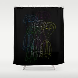 Kurt Vonnegut 2 Shower Curtain