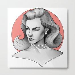 Lauren Bacall Metal Print