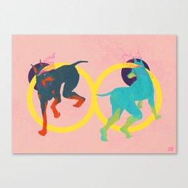 Lightheaded dogs Canvas Print