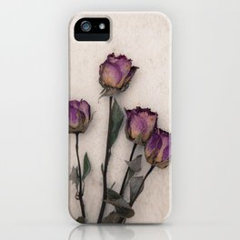 four dried roses iPhone Case