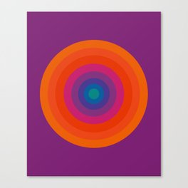 Retro Bullseye Pattern Canvas Print