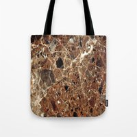 30 rock Tote Bags featuring Marble Texture 30 by Robin Curtiss
