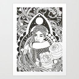 Hommage to Low Leaf Art Print