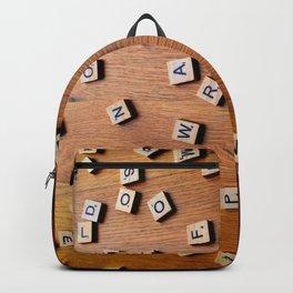 Scrabble letters Backpack
