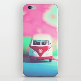 Red & White Vintage Bus iPhone Skin
