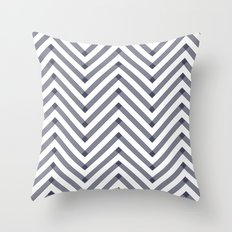Marine Chevron Zigag pattern - dark blue on white on #Society6 Throw Pillow