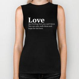 Funny Love Dictionary Meme Biker Tank
