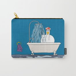 Eglantine la poule (the hen) in the shower. Carry-All Pouch