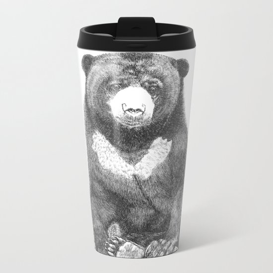 Malayan Sun Bear (Beruang Madu) Metal Travel Mug