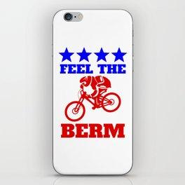 Bernie Sanders Mountain Bike iPhone Skin