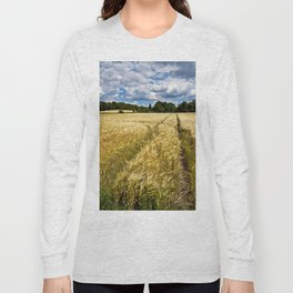 Golden wheat field poetry Long Sleeve T-shirt