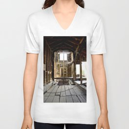 Exploring the Longfellow Mine of the Gold Rush - A Series, No. 4 of 9 Unisex V-Neck