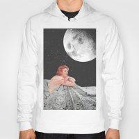 blanket Hoodies featuring Moon Blanket by Sophie Le