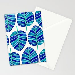 Elephant Ear Alocasia – Blue & Turquoise Palette Stationery Cards