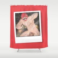 flash Shower Curtains featuring Flash. by KODYMASON