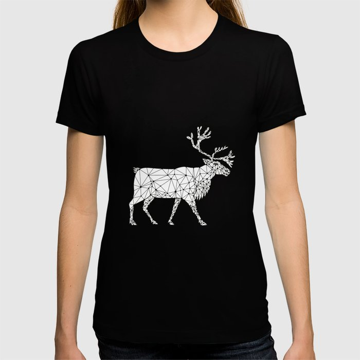 Caribou Side Nodes Black and White T-shirt