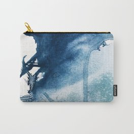 Pacific Grove: a pretty minimal abstract piece in blue by Alyssa Hamilton Art Carry-All Pouch