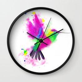 Abstract Humming Bird Wall Clock