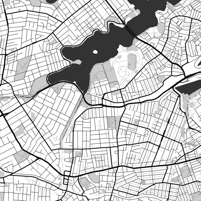 Sydney City Map Gray Leggings