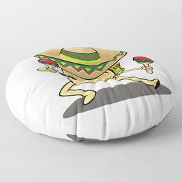 Cinco De Mayo -  Taco Dancing Sombrero Maracas Floor Pillow