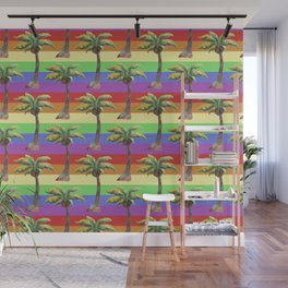 rainbow palm Wall Mural