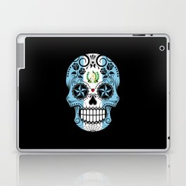 Sugar Skull with Roses and Flag of Guatemala Laptop & iPad Skin