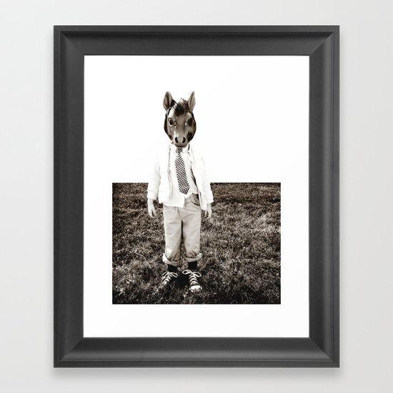 Portrait of a Boy Framed Art Print