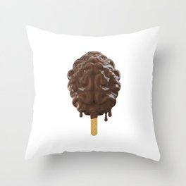 Because, Chocolate Throw Pillow