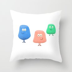 Gum Drops Set  Throw Pillow