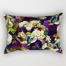 hummingbird paradise ethereal autumn flower pattern fn Rectangular Pillow