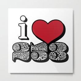 I Love 253 Design Metal Print