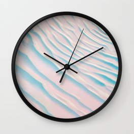 Sands of Pink with Blue Shaddows Wall Clock