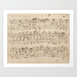Old Music Notes - Bach Music Sheet Art Print