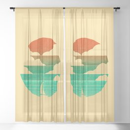 Go West (sail away in my boat) Sheer Curtain