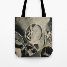 Skull in Scrapyard Tote Bag