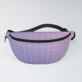 purple / pink - grid Fanny Pack