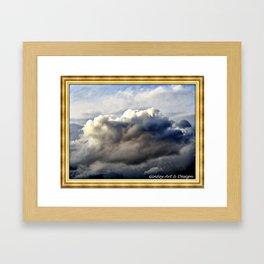 Cloudy Pike's Peak Colorado Framed Art Print
