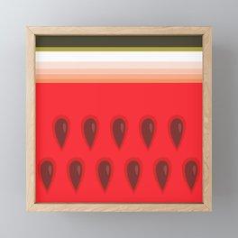 Yummy Watermelon Framed Mini Art Print