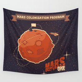Mars colonization project Wall Tapestry
