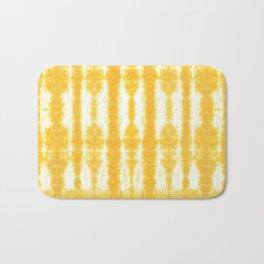 Yellow Tiki Shibori Bath Mat