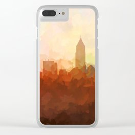 Cleveland, Ohio Skyline - In the Clouds Clear iPhone Case