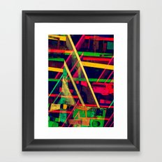 Industrial Abstract Green Framed Art Print