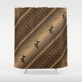 Elk Spirit (Brown) Shower Curtain