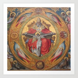 Cologne Cathedral - Altar of the Poor Clares Art Print