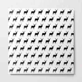 Deer Silhouettes Metal Print