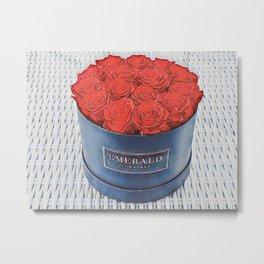Emerald Flowerbox Metal Print