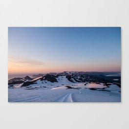 Snowcaps at Midnight Canvas Print